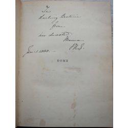 signature-queen-victoria-ex-libris-beatrice-daughter,, envoi de la reine a sa fille, in book about Rome