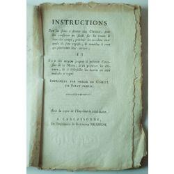 LA18 Instructions sur les soins a donner aux chevaux fin 18 ieme.
