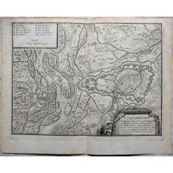 1694-Strasbourg Rhein -carte-ancienne,landkarte, kupferstich, -antiquarian-map-n-de-fer