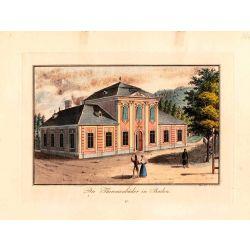 Gravure TRANQUILLO MOLLO Kupferstich, 1815, theresienbader in baden, joliement coloriée