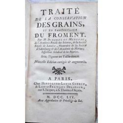 LA18 Traité de la Conservation des GRAINS,et en particulier du FROMENT.