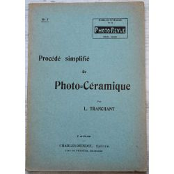 photo-revue No 7, -procede simplifie de photo ceramique Tranchant-mendel