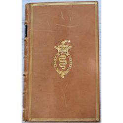 LA19 reliure signée Trautz-Bauzonnet, aux armes de la famille COLBERT, le genie de l'homme, Chènedollé
