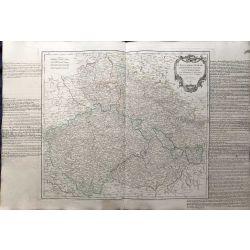 1751  Czechoslovakia , Tchechie, Vaugondy carte ancienne,landkarte, kupferstich,  antiquarian map Boheme-Silesie-Marquisats-Miravie-Lusace