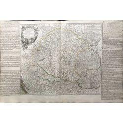 1751 Vaugondy carte ancienne, antiquarian map,landkarte, kupferstich,  royaume de Hongrie transilvanie Sclavonie Croatie Valaquie Bosnie Servie Bulgarie