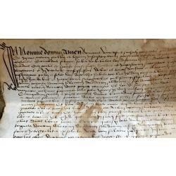 LA16 VELLUM PARCHEMIN MANUSCRIT MANISCRIPT 15th, 16th century 15/16ieme siecle