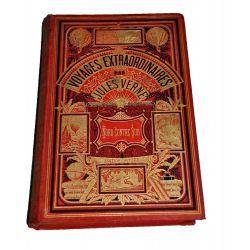 Jules Verne Nord contre sud cartonnage hetzel deux elephants rouge