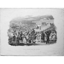 1831 VIENNE / WIEN, Der erste Mai im Tivoli. Lithographie-lithography.