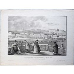 1831 VIENNE / WIEN, Panorama der Vorstaedte, les faubourgs. Lithographie-lithography.
